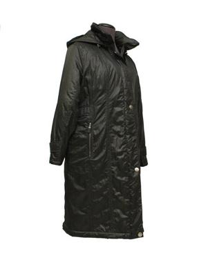 Picture of Etage Plus Piumino donna colore nero lungo con cappuccio