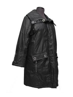 Picture of Etage Plus Piumino donna colore nero 3/4 con cappuccio