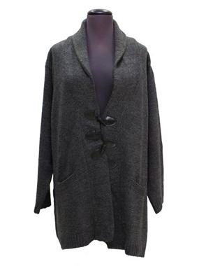 Picture of Cardigan lana grigio SCURO con alamari