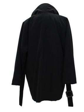 Picture of Cappotto nero in panno 3/4