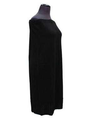 Immagine di Gonna in maglia di lana nera dritta