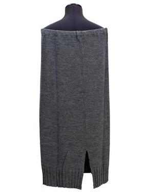 Immagine di Gonna in maglia di lana grigia dritta