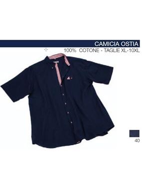 Immagine di Camicia mezza manica OSTIA Maxfort lino ins rigato