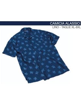 Picture of Camicia mezza manica ALASSIO Maxfort lino floreale