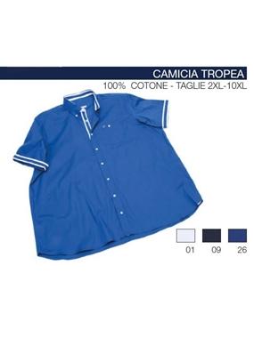 Picture of Camicia mezza manica Maxfort ricamo ancora TROPEA