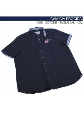 Immagine di Camicia mezza manica Maxfort ricamo marina PROCIDA