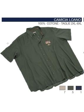 Picture of Camicia mezza manica Maxfort t.unita ricamo LOANO