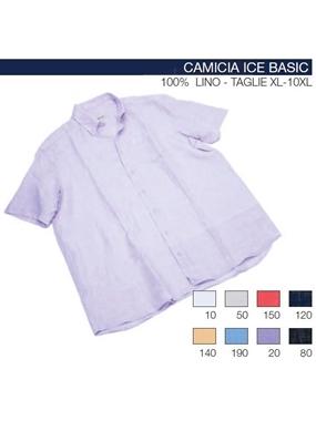 Picture of Camicia mezza manica Maxfort t.u. lino ICE BASIC