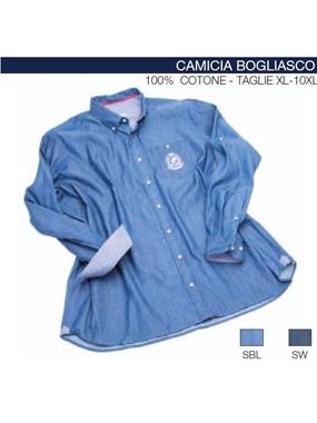 Immagine di Camicia BOGLIASCO manica lunga Maxfort jeans ricamo