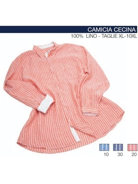 Immagine di Camicia CECINA  manica lunga Maxfort lino rigata