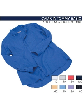 Picture of Camicia TOMMY manica lunga Maxfort lino t.u.
