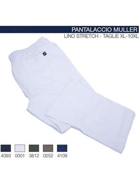 Immagine di Pantalone Maxfort lino stretch con laccio Muller