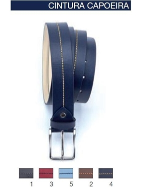 Immagine di Cintura Maxfort Capoeira cuoio cucitura cont