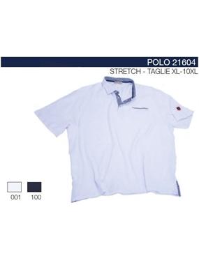 Immagine di Polo 21604 mezze maniche Maxfort inserti fiorati