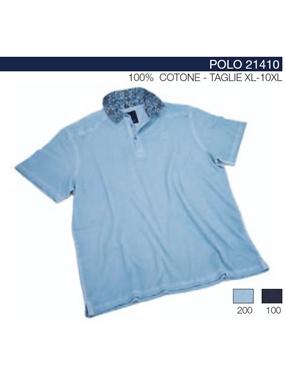 Picture of Polo 21410 mezze maniche Maxfort collo floreale