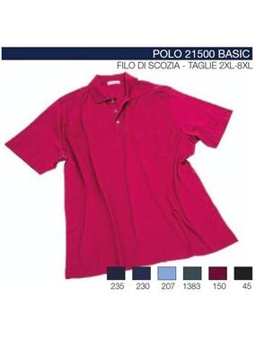 Immagine di Polo mezze maniche 21500 Maxfort filo scozia