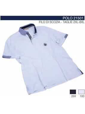 Immagine di Polo 21501 mezze maniche Maxfort collo camicia