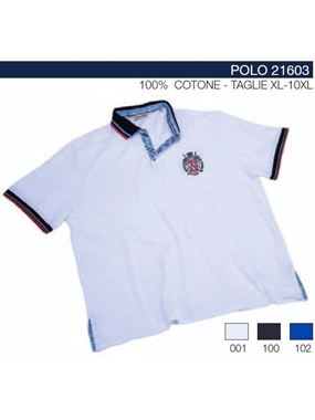 Picture of Polo piquet Maxfort collo contrasto 21603