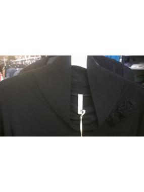 Immagine di OVER CACCIARI  abito nero in viscosa elasticizzata invernale
