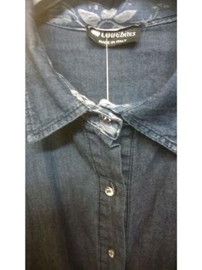 Immagine di Camicia jeans  con bottoni brillantiini