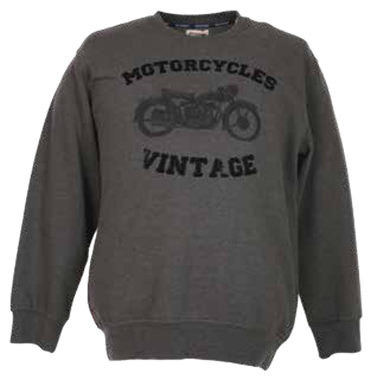 Picture of Felpa Maxfort girocollo  stampa Motocycles Vintage