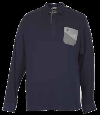Immagine di Maxfort  Polo manica lunga Jersey Stretch con patch