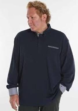 Picture of Polo manica lunga Maxfort collo camicia colore blu